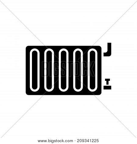 radiator steel panel icon, illustration, vector sign on isolated background