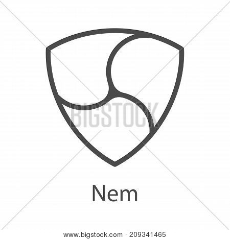 Nem icon for internet money. Crypto currency symbol for using in web projects or mobile applications. Blockchain based secure cryptocurrency. Isolated vector sign.
