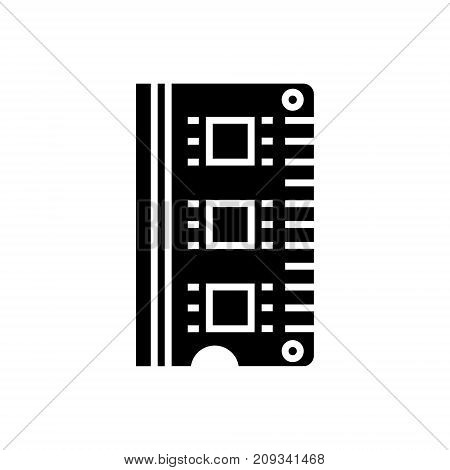 ram - memory icon, illustration, vector sign on isolated background