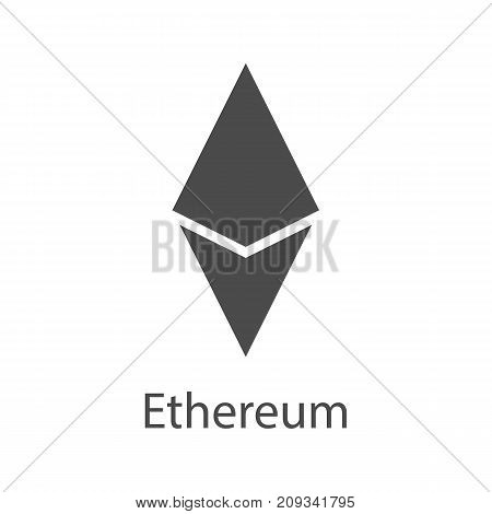 Ethereum icon for internet money. Crypto currency symbol for using in web projects or mobile applications. Blockchain based secure cryptocurrency. Isolated vector sign.