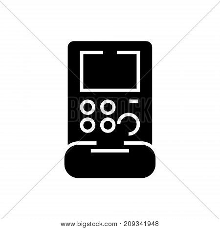 retro game console icon, illustration, vector sign on isolated background