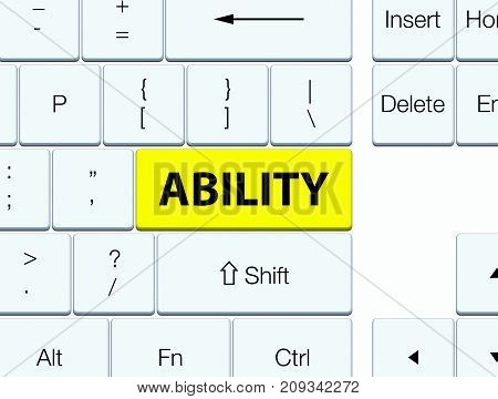 Ability Yellow Keyboard Button