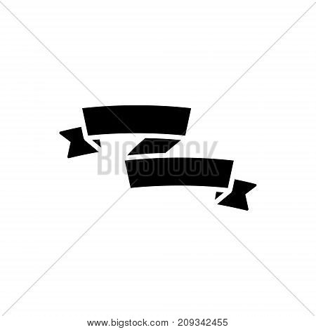 ribbon assimetric icon, illustration, vector sign on isolated background