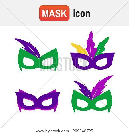 Carnaval Isolated Gras. Mardi Gras Mask, Vector Mardi Gras Masks