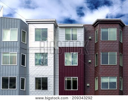 facade of a group of residential houses in San Francisco