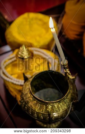 holy water the monks and religious rituals in thai ceremony