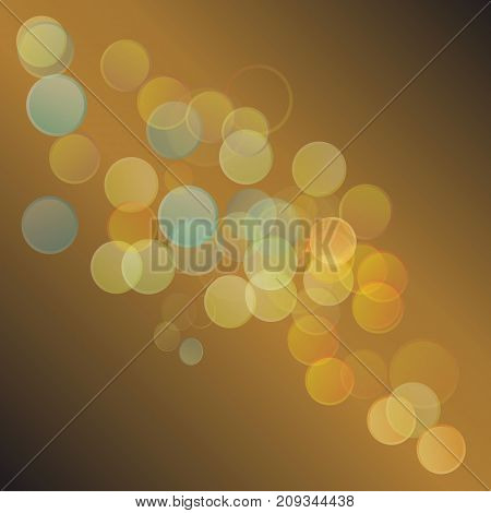 colorful illustration with abstract background on browb gradient background