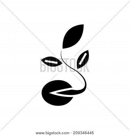 seeds - grow plant icon, illustration, vector sign on isolated background