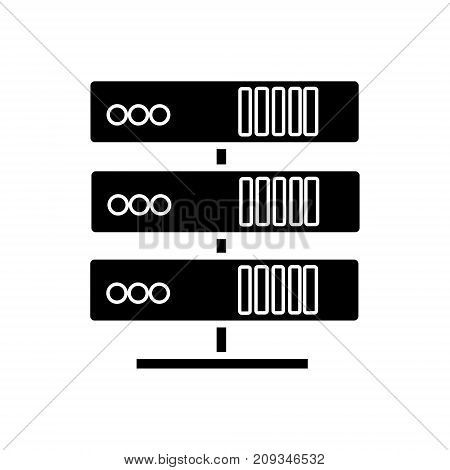 servers network icon, illustration, vector sign on isolated background