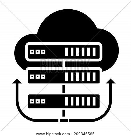 servers network - cloud icon, illustration, vector sign on isolated background