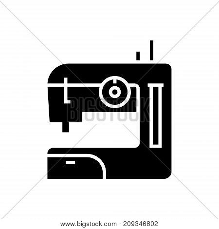 sewing machine icon, illustration, vector sign on isolated background