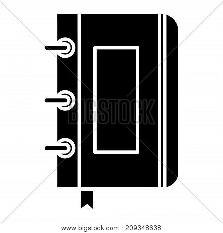 sketchbook - notebook icon, illustration, vector sign on isolated background
