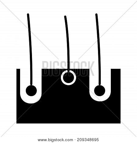 skin structure icon, illustration, vector sign on isolated background