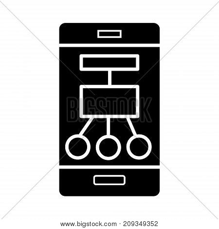 smartphone scheme structure icon, illustration, vector sign on isolated background