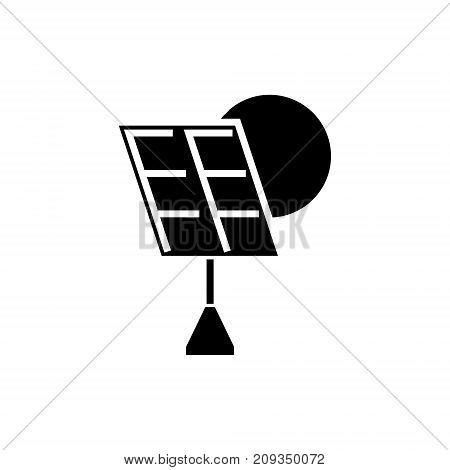 solar battery icon, illustration, vector sign on isolated background