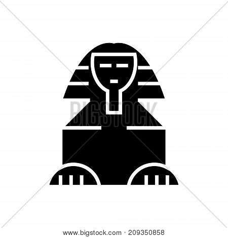 sphinx icon, illustration, vector sign on isolated background
