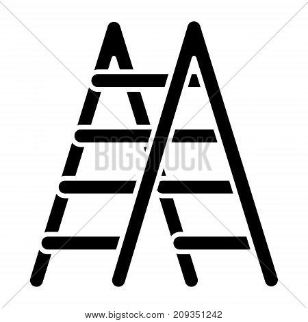 stairs icon, illustration, vector sign on isolated background