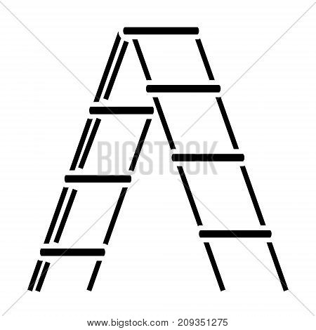 stairs garden icon, illustration, vector sign on isolated background