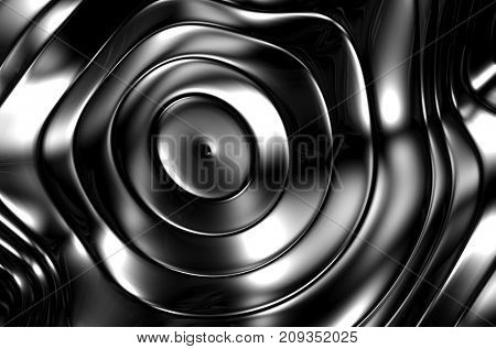 Silver metal wave abstract background