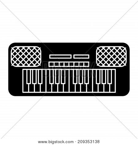 synthesizer icon, illustration, vector sign on isolated background