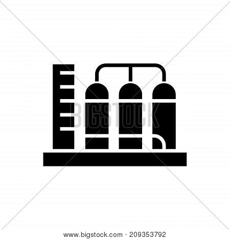 tanks icon, illustration, vector sign on isolated background