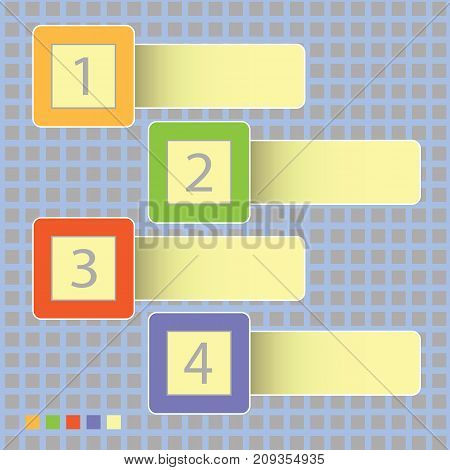 abstract progress icons isolated on grey square background