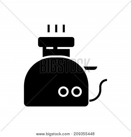 toaster icon, illustration, vector sign on isolated background