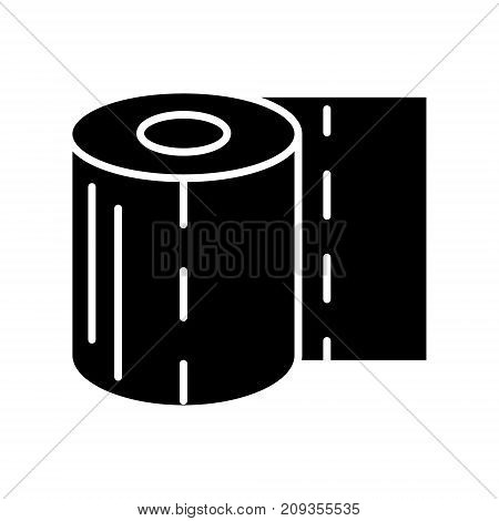 toilet paper icon, illustration, vector sign on isolated background
