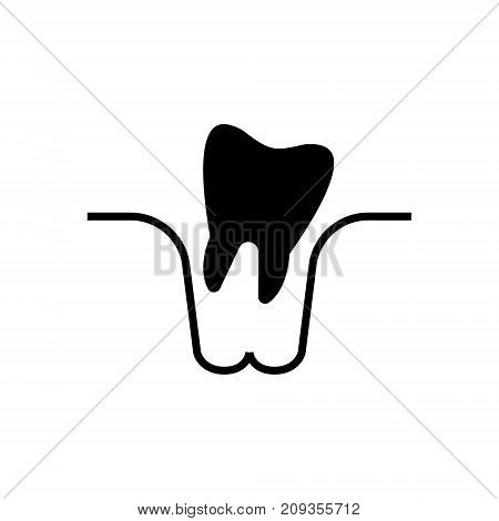 tooth extraction icon, illustration, vector sign on isolated background