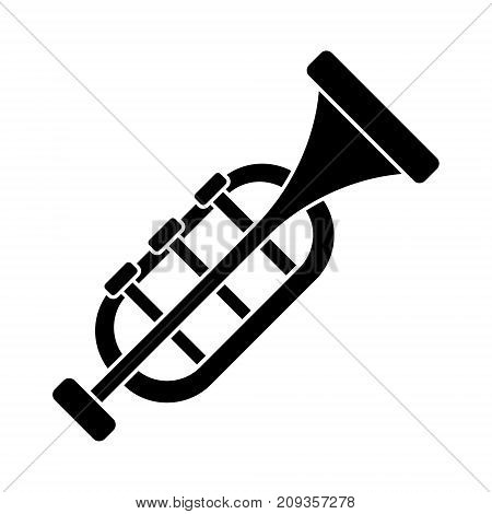 trumpet - horn icon, illustration, vector sign on isolated background