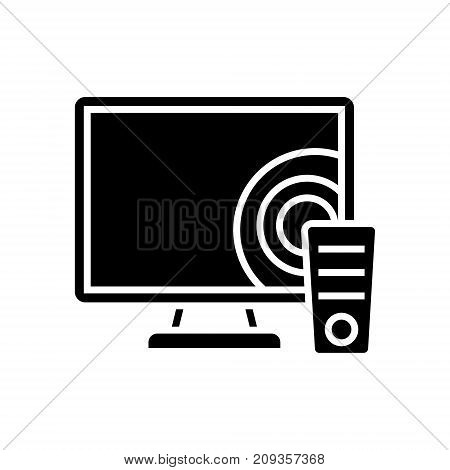 tv - televisor icon, illustration, vector sign on isolated background