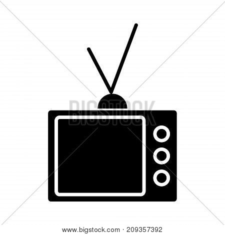 tv vintage televisor  icon, illustration, vector sign on isolated background