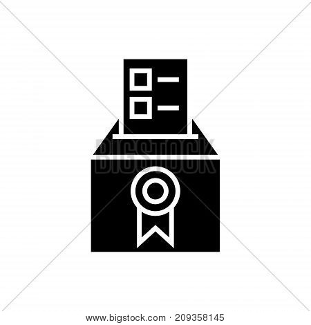 vote - voting - elections - poll icon, illustration, vector sign on isolated background