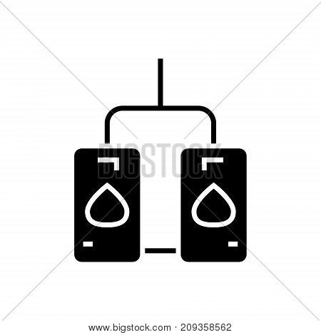 water heating tank icon, illustration, vector sign on isolated background