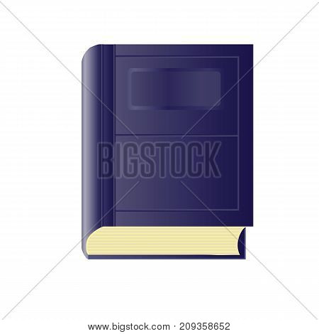 Blue paper book isolated on white background