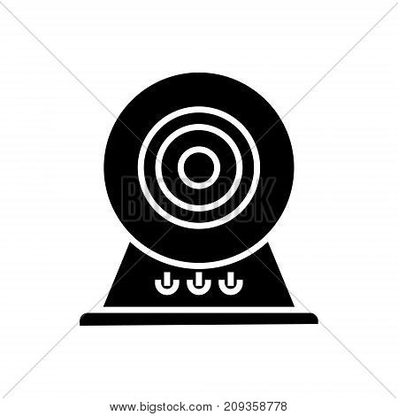 web cam - online camera icon, illustration, vector sign on isolated background