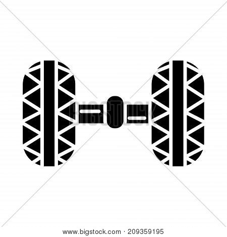 wheel alignment - garage icon, illustration, vector sign on isolated background