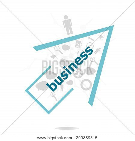 Text Business. Business Concept . Data Protection And Secure Elements Inforgaphic Set