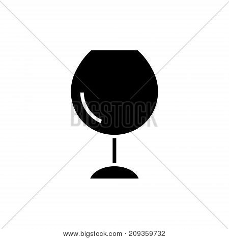 wine glasses -  icon, illustration, vector sign on isolated background
