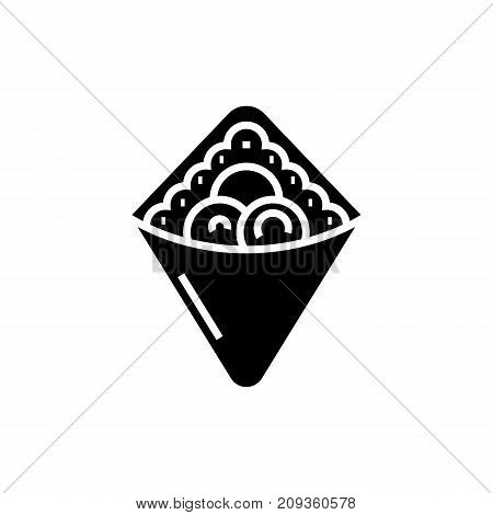 wrap - fast food - doner kebab - toast  icon, illustration, vector sign on isolated background