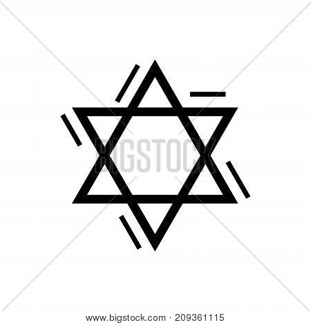 star david's - jewish icon, illustration, vector sign on isolated background
