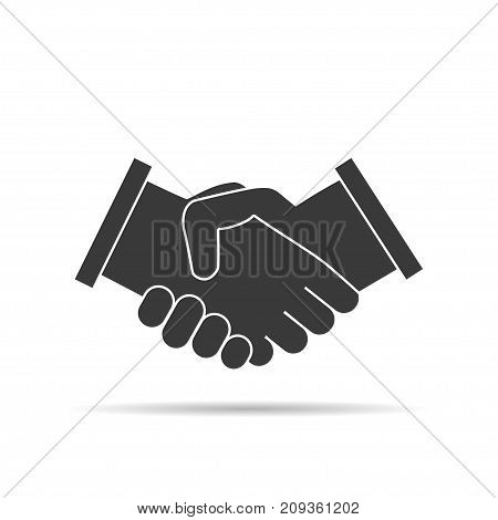 Business handshake flat icon for apps and websites. Contract agreement