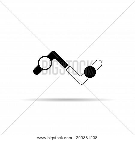 Share icon. Handshake abstract logo design template