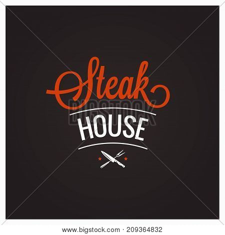 steak grill bbq logo design background 10 eps