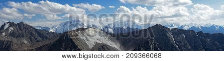 Mountains With A Glacier, Ridges Highlands Panorama