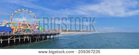 Santa Monica Pier  In Los Angeles.