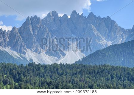 A sunny day of the gorgeous Sexten Dolomites of the Italian Alps of Southern Tyrol