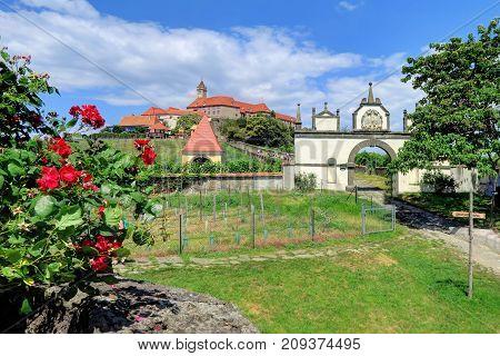 RIEGERSBURG AUSTRIA 26 June 2017- Riegersburg Castle and museum above the town of Riegersburg in Styria Austria