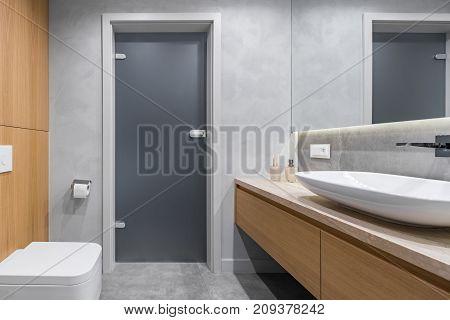 Bathroom With Countertop Basin