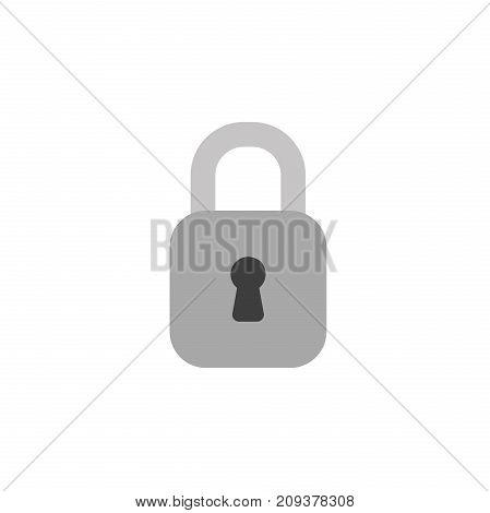 Flat Design Style Vector Of Closed Padlock
